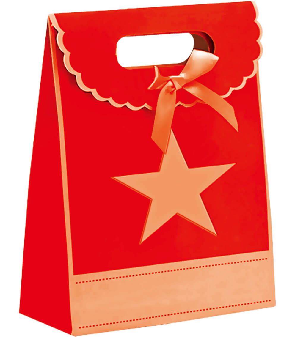 S-Gift Paper Bag Red