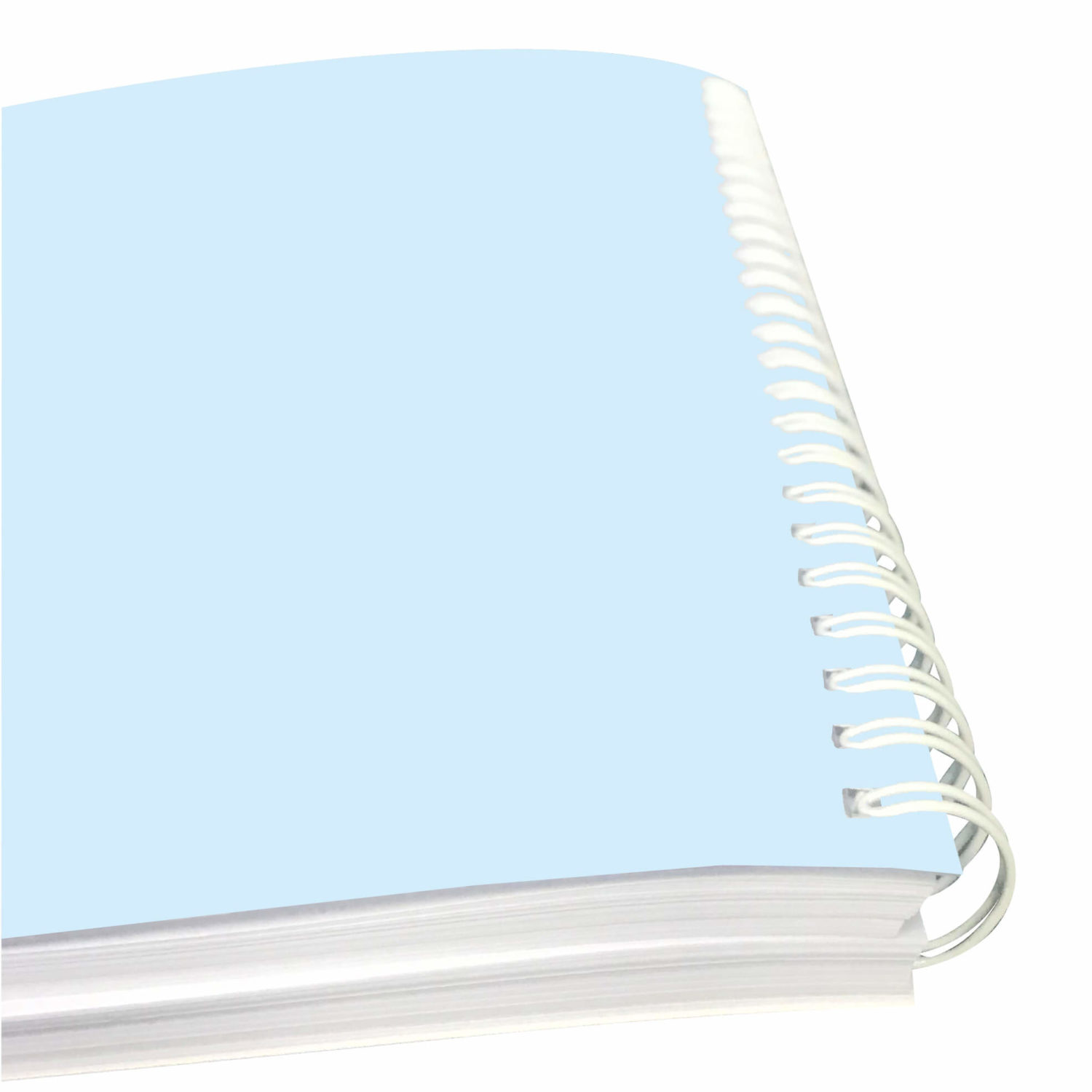 A offset 4C printed note book in wire binding, binding at a glance.
